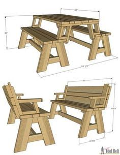 Not Only Is This Picnic Table Great For Outdoor Eating, But It Easily  Converts Into Two Cute Garden Benches. The Picnic Tableu0027s Top Folds Down To  Create The ...