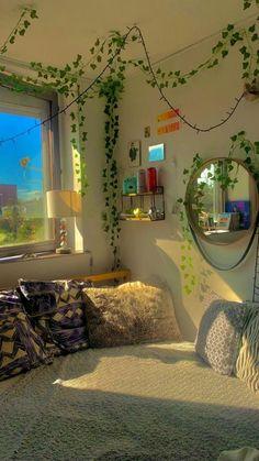Indie Room Decor, Cute Bedroom Decor, Room Design Bedroom, Room Ideas Bedroom, Bedroom Inspo, Pinterest Room Decor, Pretty Room, Aesthetic Room Decor, Cozy Room