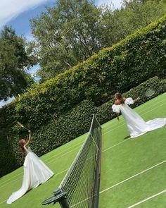 "Monique Lhuillier on Instagram: ""New tennis whites 🎾 #moniquelhuillier #mlbride #mlspring21bridal"""