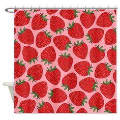 Strawberries Shower Curtain  Ornaart Design by Ornaart on Etsy, $89.00