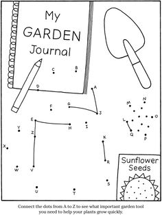 kids gardening activity pages.  another Dover publishing wonderful kids page!