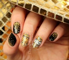 New year's eve #Nail Art tutorial #nailart #fashion #NewYearsEve