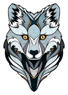 Arctic Fox design for Burton Snowboard by Andreas Preis | Drawing | Graphic Design | Illustration | animal poster print Burton // BYVM Contest by Andreas Preis, via Behance