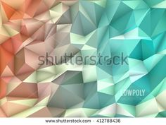 Polygon, Low Poly, Abstract Mosaic Background