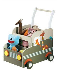 Coffre de rangement bébé à roulettes Savane MULTICOLORE - vertbaudet enfant 45eur