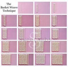 The basket weave technique