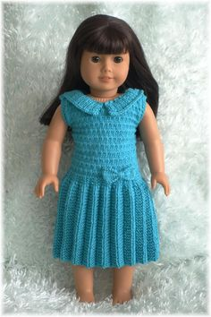 American Girl - Drop-Waist Pleated Dress by Purl Knit Designs