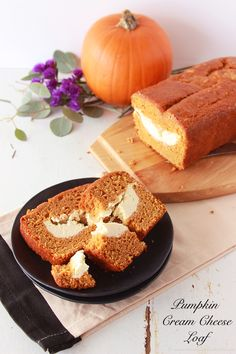 Pumpkin Cream Cheese Loaf will rock your world! YUM. by www.cookingwithruthie.com