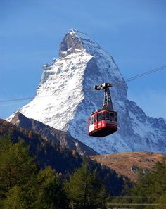 Zermatt, Switzerland- took this tram up to the highest lookout point....I did NOT look down behind me to see just how hight it was!