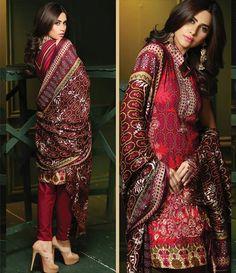 Rajbari Premium Fall Winter Linen Collection 2015 RB_08A