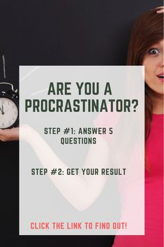 Are you a procrastinator? Do you constantly seem to put things off right until the deadline? Take our quiz and find out! Simple and easy! How To Get Rid, How To Find Out, How To Become, Time Management Techniques, Stop Wasting Time, Live With Purpose, Organized Mom, Productivity Hacks, How To Stop Procrastinating