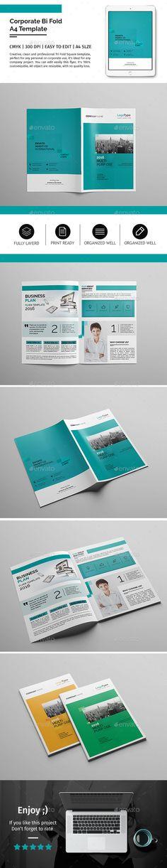 FREE Bi Fold Brochure Template, Brochure Layout, Free Vector Bi   Bi Fold  Free Bi Fold Brochure Template Word