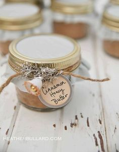 Cinnamon honey butter. Cute gift idea!