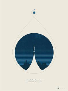 Minimalist poster for the Apollo 13 missions : graphic_design Graphic Design Posters, Graphic Design Typography, Graphic Design Inspiration, Graphic Art, Daily Inspiration, Graphisches Design, Layout Design, Print Design, Shape Design