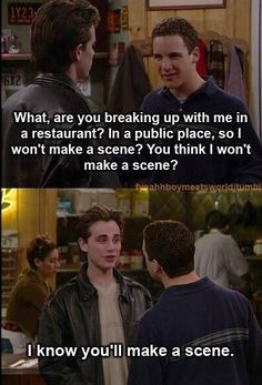 Laughing love: Boy Meets World