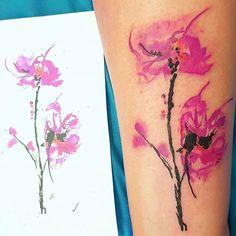 Sketched pink florals