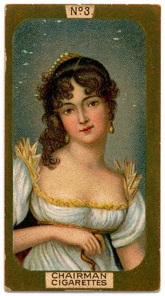 Cigarette Card - Miniature of a Young Lady
