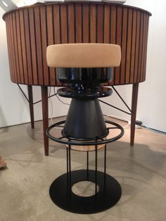 High black Tembo stool by Note Design Studio at Design Trade Copenhagen on Leaning Toward Design stand - 2014 Note Design Studio, Notes Design, Copenhagen, Bar Stools, Art Deco, Furniture, Black, Home Decor, Bar Stool Sports