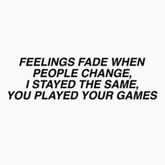 Feelings Fade// Gnash