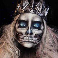Jordan Hanz on Instagram   Hanzoween   Lich King Inspired Skull