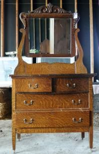 Tiger Oak Dresser With Swing Mirror Found On Maxsold Maxville Downsizing