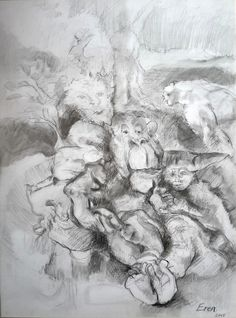 Adam (Çizim),  35x45 cm EREN tarafından Graffit and charcoal.
