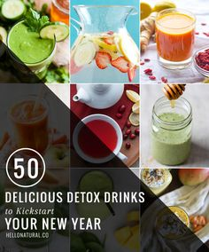 Kickstart Your New Year with 50 Delicious Detox Drinks | http://helloglow.co/kickstart-new-year-50-delicious-detox-drinks/