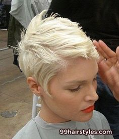 cool blonde short hairstyle idea - 99 Hairstyles Ideas