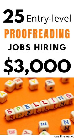 Proofreading jobs for beginners who are looking for side hustles ideas to work from home. Make money online with proofreading jobs from home