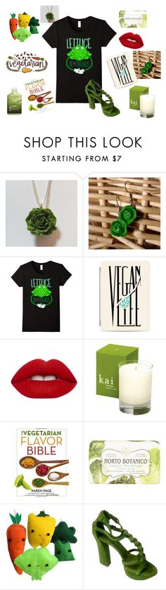 """""""Lettuce Be Friends Vegan Vegetarian Accessories"""" by sonya-bernhart on Polyvore featuring Casetify, Lime Crime, Nesti Dante, Casadei and H2O+"""
