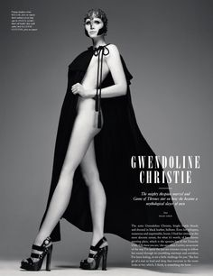 Gwendoline Christie looking completely different from her character Brienne of Tarth.