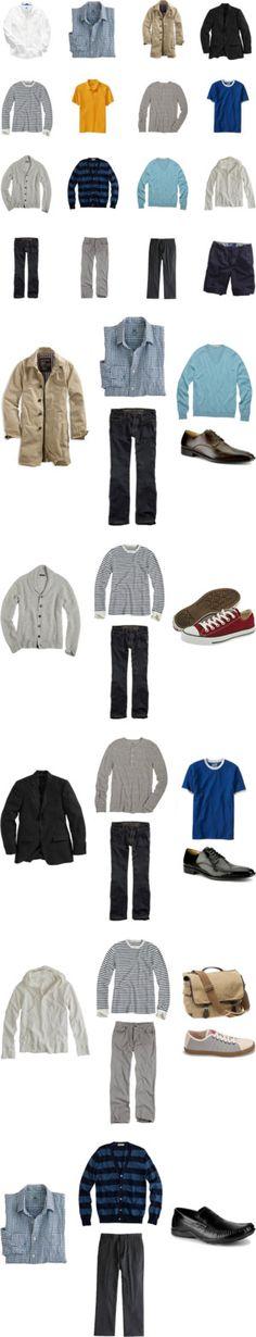 """Spring/Summer Menswear Capsule Wardrobe - 2009"" by omiru ❤ liked on Polyvore"