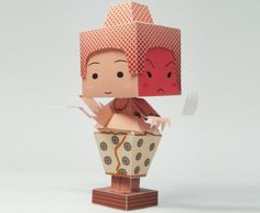 Buddha Statue Paper Toy - by Paper 21st Century  ==          A simple Buddha Statue in Paper Toy style, by japanese site Paper 21st Century. This model is 16 cm tall.