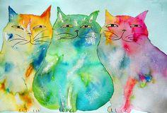 Haleiwa Cats  by Hawaii Cat Artist, via Flickr