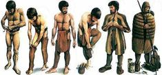 Reconstruction of how Otzi would have dressed in the items found by archaeologists.