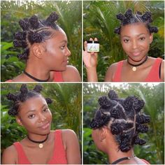 Hair dues for Shayla all natural Texturizer On Natural Hair, Natural Hair Care, Natural Hair Styles, Bantu Knot Hairstyles, Protective Hairstyles, Protective Styles, Crochets Braids, Pelo Afro, Bantu Knots