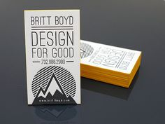 letterpress business cards and design by PRINTandGrain