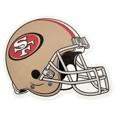 Show your team spirit proudly with this 12 inch die-cut vinyl magnet. The San Francisco football magnet is die-cut in the shape of the team helmet. Made of heavy gauge magnetic vinyl, this magnet sticks to any metal surface. This die-cut vi. 49ers Helmet, Helmet Logo, Football Team Logos, Football Helmets, Sports Logos, San Francisco 49ers, Nfl Logo, Car Magnets, Oakland Raiders