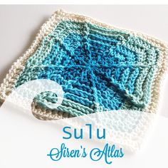 Sulu! One of the 52 patterns in the Siren's Atlas collection by Shelley Husband
