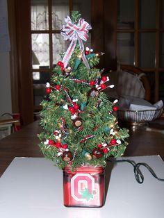 Ohio State Buckeye Christmas tree