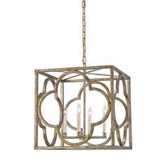 Cosette Peppercorn Gold Four Light Lantern Pendant Lantern Pendant Lighting Ceiling Light