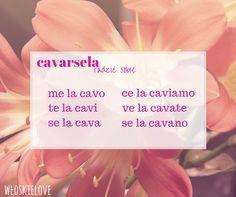 Verbi pronominali cavarsela odmiana czasowników język włoski Wloskielove
