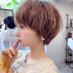 Long Pixie Hairstyles, Cute Hairstyles, Short Hair Cuts, Short Hair Styles, Japanese Short Hair, Joelle, Lob Haircut, Cut My Hair, Gorgeous Hair