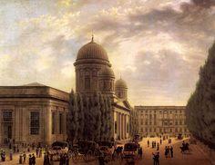 Der Berliner Dom, Gemälde von Carl Hasenpflug, 1825