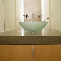 How to make vanities for vessel sinks