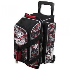 2 Balls 71095  Moxy Blade Premium Double Roller Bowling Bag- Black ... 92907f6232
