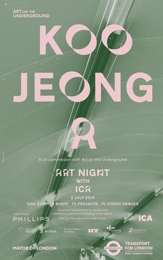 TFL Poster with the brand identity for Art Night created by Studio Frith. It combines a custom font with pastel shades and black-and-white images of the city in the night.
