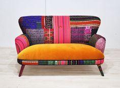 Sweet Honey Patchwork Sofa