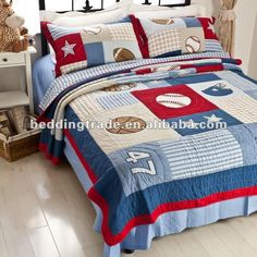 sports quilts | boys sports bedding