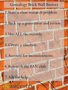 """Have an elusive """"brick wall"""" ancestor? Crista Cowan provides some quick tips to…"""